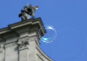 Seifenblasen auf Reisen