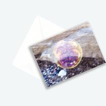 """Kunstkarte Edition 2017 aus Fotoprojekt Cornelia Aschmann """"Seifenblasen auf Reisen"""", Sujet 3"""