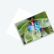 """Kunstkarte Edition 2017 aus Fotoprojekt Cornelia Aschmann """"Seifenblasen auf Reisen"""", Sujet 2"""