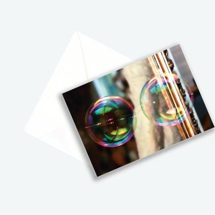 """Kunstkarte Edition 2017 aus Fotoprojekt Cornelia Aschmann """"Seifenblasen auf Reisen"""", Sujet 4"""