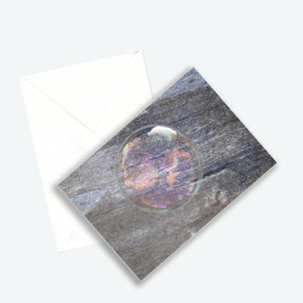 """Kunstkarte Edition 2016 aus Fotoprojekt Cornelia Aschmann """"Seifenblasen auf Reisen"""", Sujet 5"""